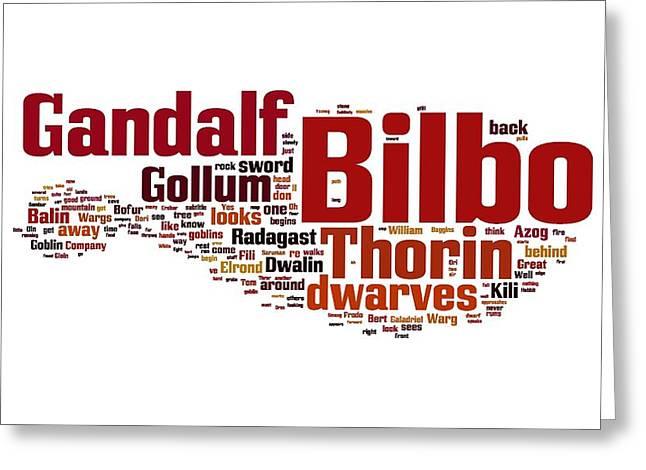 The Hobbit Greeting Card by Florian Rodarte