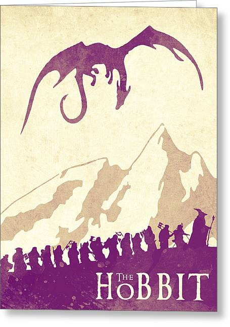 The Hobbit - Lord Of The Rings Poster. Watercolor Poster. Handmade Poster. Greeting Card