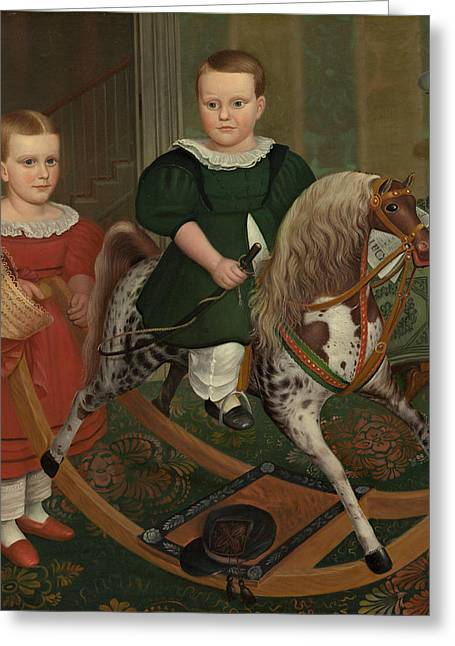The Hobby Horse Greeting Card by American School