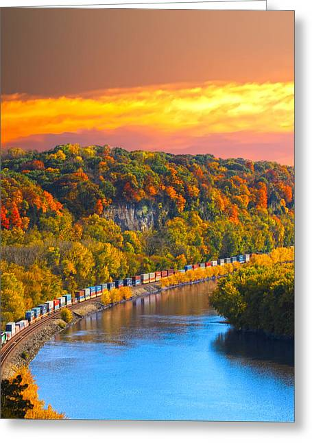 The Hobo Train Up The Mississippi Greeting Card