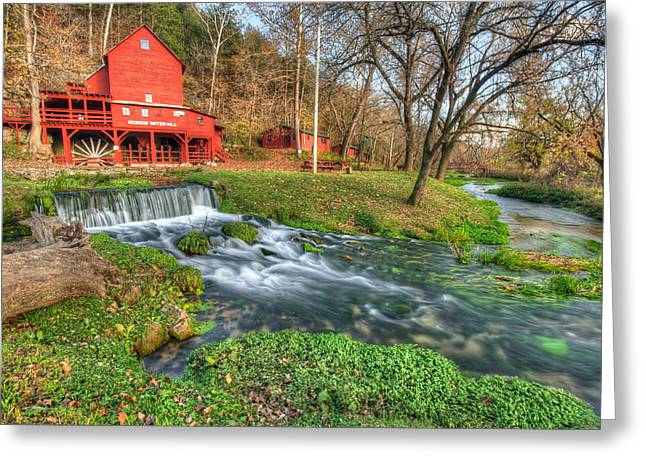 The Hodgson Mill - Missouri Greeting Card by Gregory Ballos