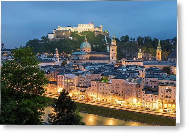 The Hohensalzburg Fortress, Cathedral Greeting Card