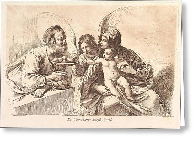 The Holy Family, The Christ Child Greeting Card by Francesco Bartolozzi