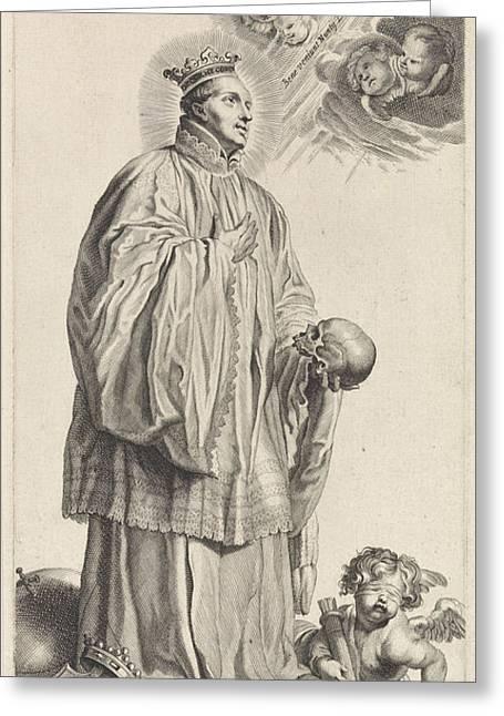 The Holy Godefridus Of Cappenberg, Michel Natalis Greeting Card