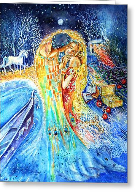 The Homecoming Kiss After Gustav Klimt Greeting Card