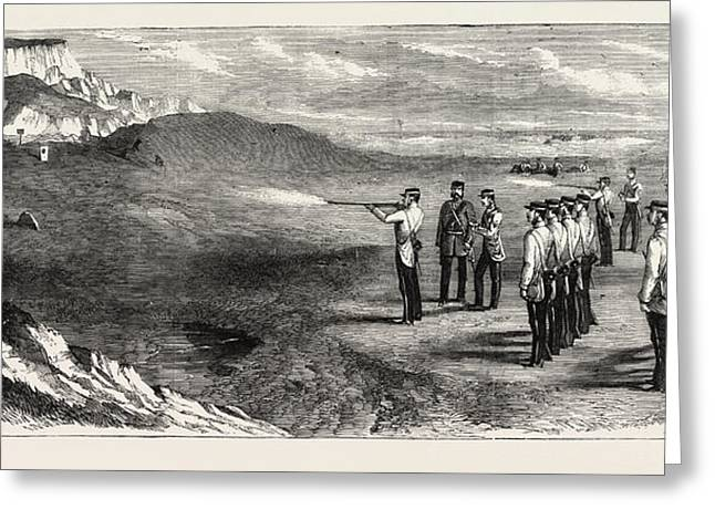 The Hon. Artillery Company Of London Practising Greeting Card by English School