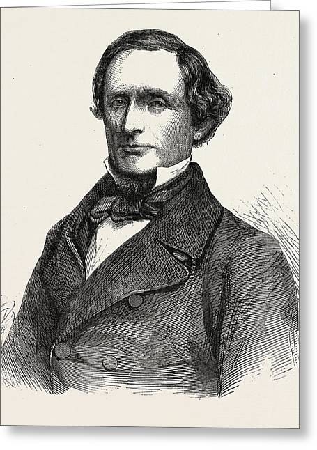 The Hon. Jefferson Davis President Of The Southern Greeting Card by English School
