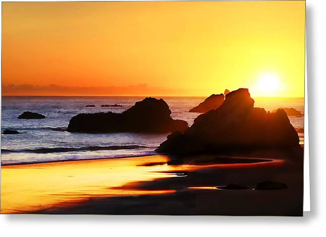 The Honeymoon Sunset  Greeting Card