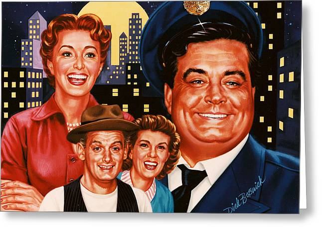 The Honeymooners Greeting Card by Dick Bobnick