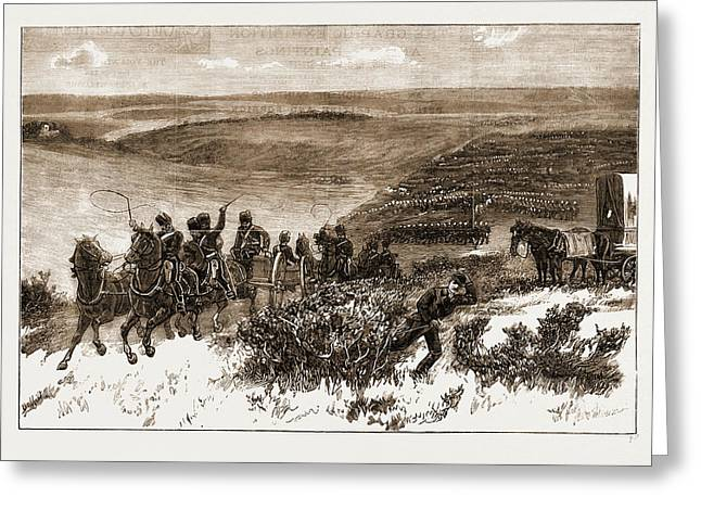 The Honourable Artillery Company Going Into Action Greeting Card by Litz Collection