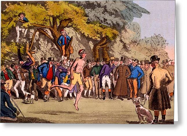 The Hopping Match On Clapham Common Greeting Card by English School