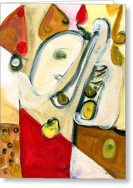 The Horn Player Greeting Card