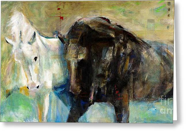 The Horse As Art Greeting Card by Frances Marino