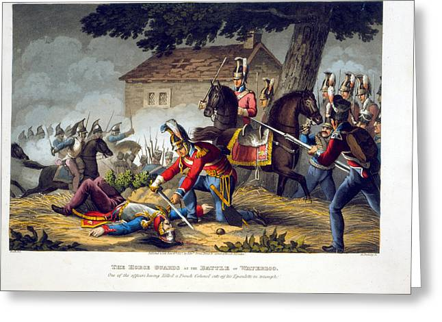 The Horse Guards At The Battle Greeting Card