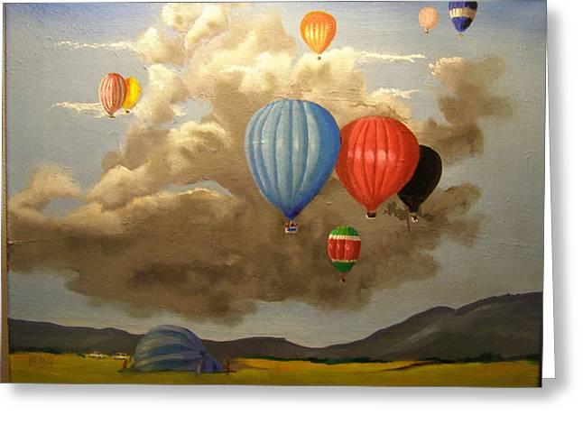 The Hot Air Balloon Greeting Card