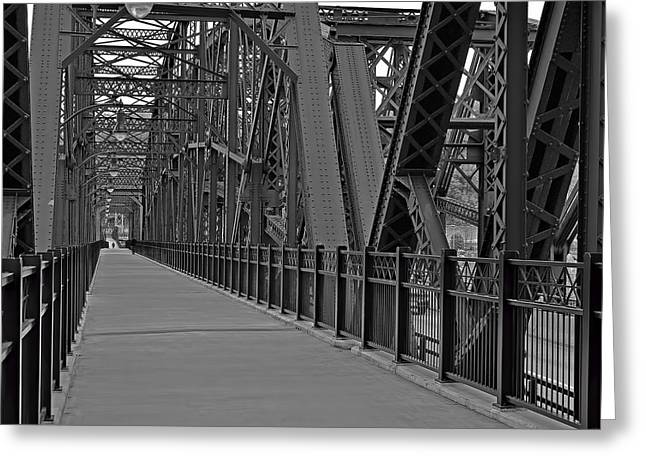 The Hot Metal Bridge In Pittsburgh Greeting Card