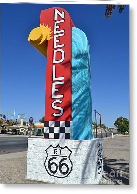 Greeting Card featuring the photograph The Hottest Spot On Route 66 by Utopia Concepts