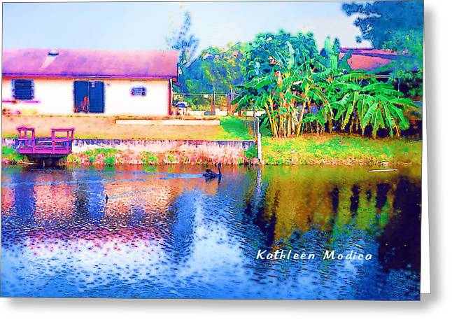 The House Across The Way Greeting Card