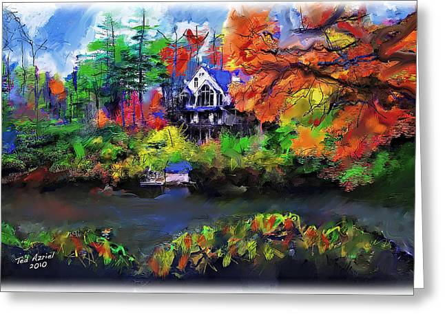 The House At Highlands Greeting Card