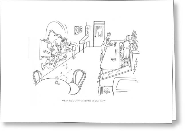 The House Does Wonderful On That One Greeting Card by George Price