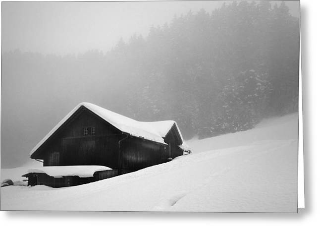 Greeting Card featuring the photograph The House In The Mountain by Antonio Jorge Nunes