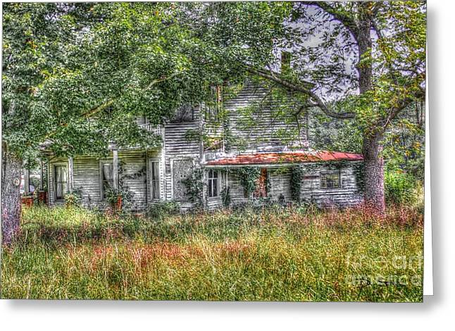The House In The Woods Greeting Card by Dan Stone
