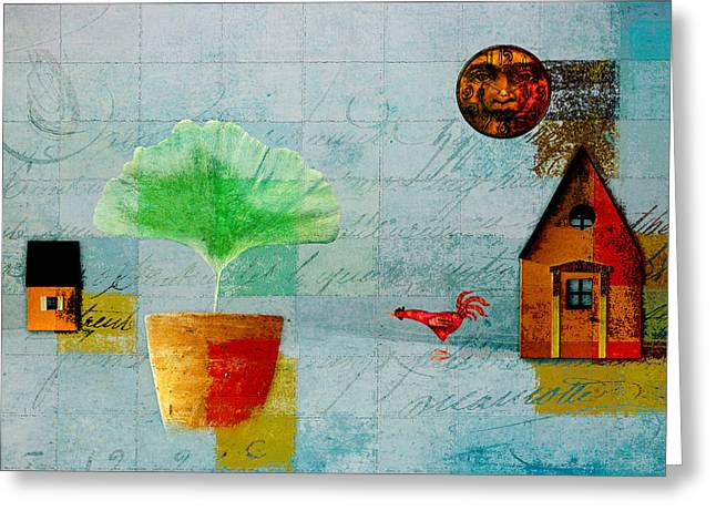 The House Next Door - J137128152-f33w Greeting Card by Variance Collections