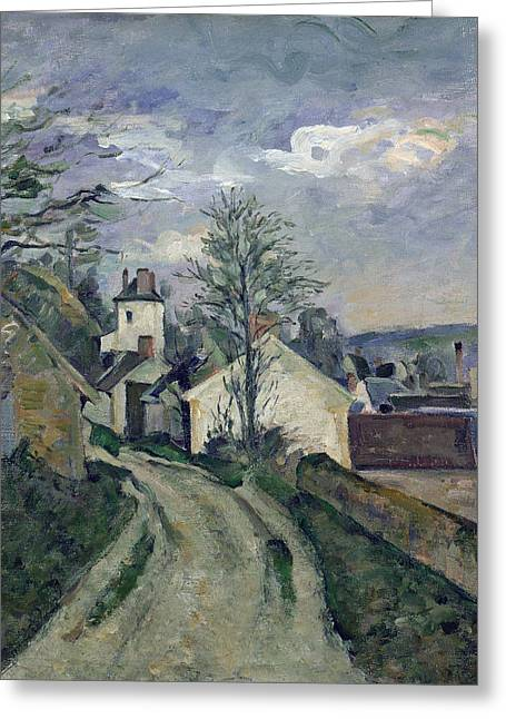 The House Of Doctor Gachet Greeting Card by Paul Cezanne