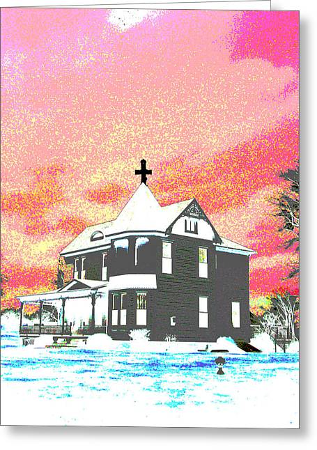 The House Of Haunted Hill Greeting Card by Jimi Bush