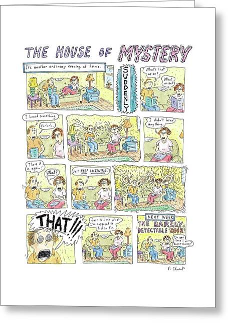 'the House Of Mystery' Greeting Card