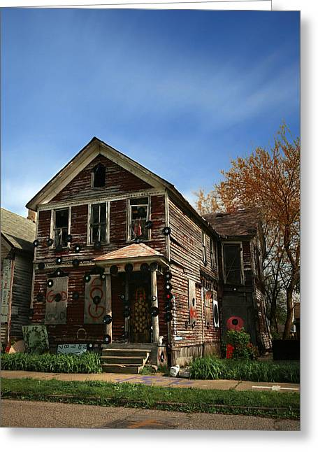 The House Of Soul At The Heidelberg Project - Detroit Michigan Greeting Card