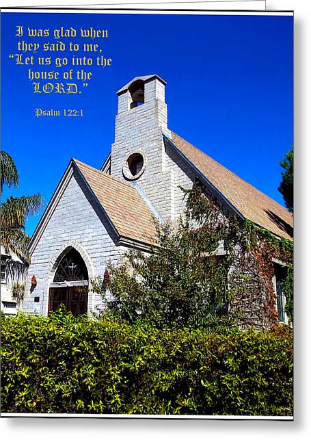 The House Of The Lord Greeting Card by Glenn McCarthy Art and Photography