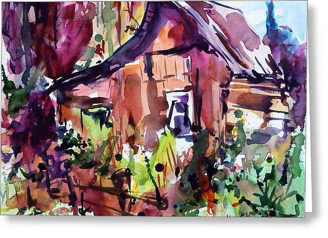 The House On The Edge Of The Forest Greeting Card by Mikko Tyllinen