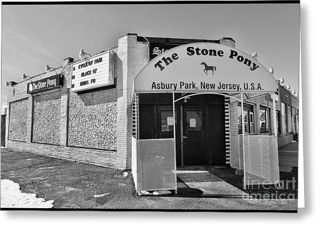 The House That Bruce Built II - The Stone Pony Greeting Card by Lee Dos Santos
