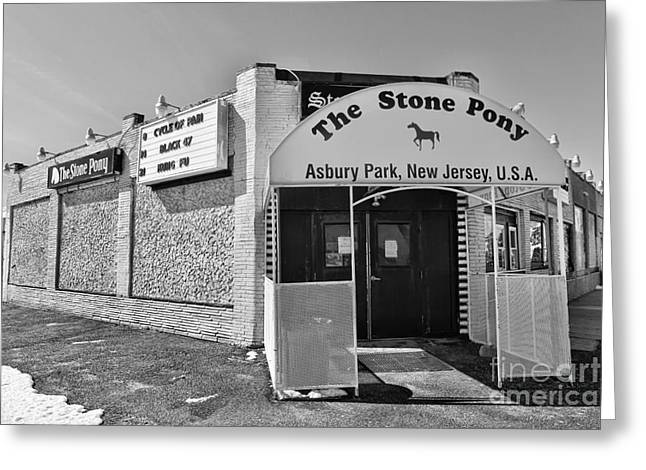 The House That Bruce Built - The Stone Pony Greeting Card by Lee Dos Santos