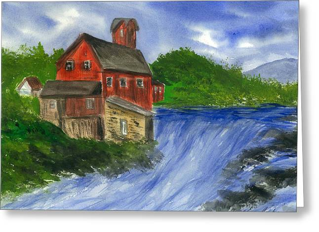 The House We Call Home Greeting Card by Karen  Condron