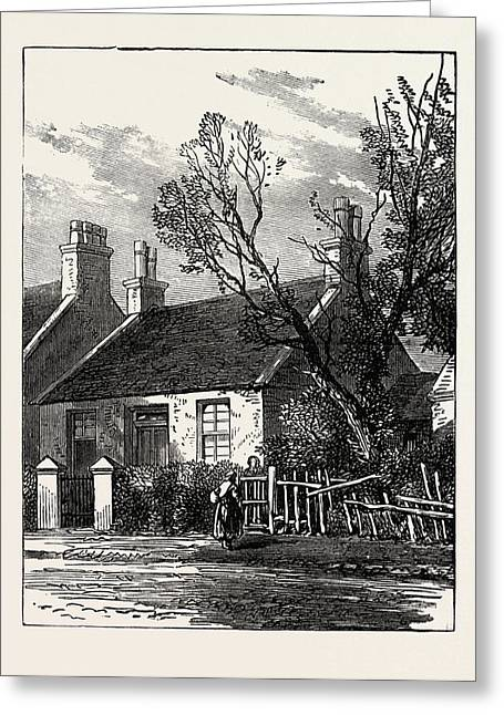 The House Where Livingstone Dwelt In His Youth Greeting Card by English School