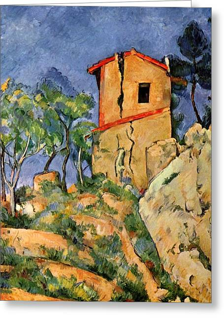 The House With Cracked Walls Greeting Card