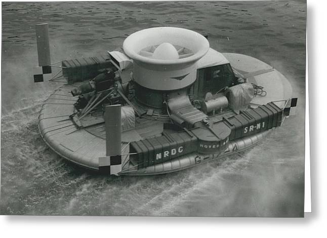 The �hovercraft� Shows Of Its Paces On The Thames Greeting Card by Retro Images Archive