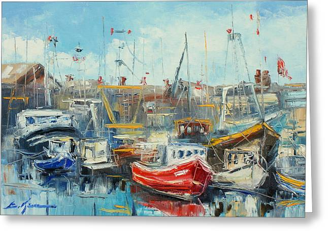 The Howth Harbour Greeting Card