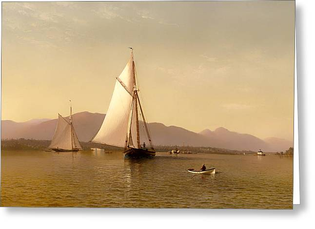 The Hudson At The Tappen Zee Greeting Card by Mountain Dreams