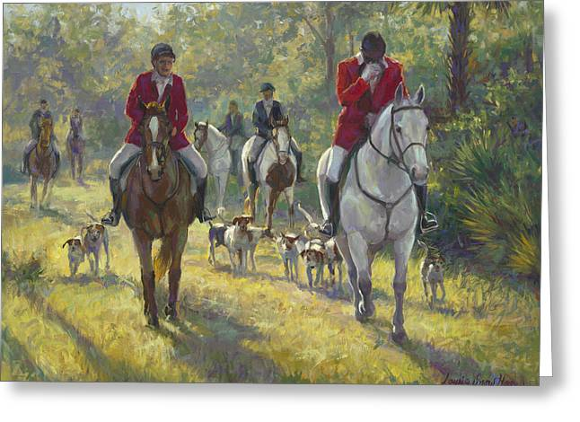 The Hunt Greeting Card by Laurie Hein