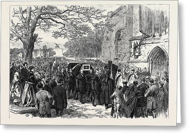 The Hunting Disaster In Yorkshire The Funeral Of Sir Greeting Card by English School
