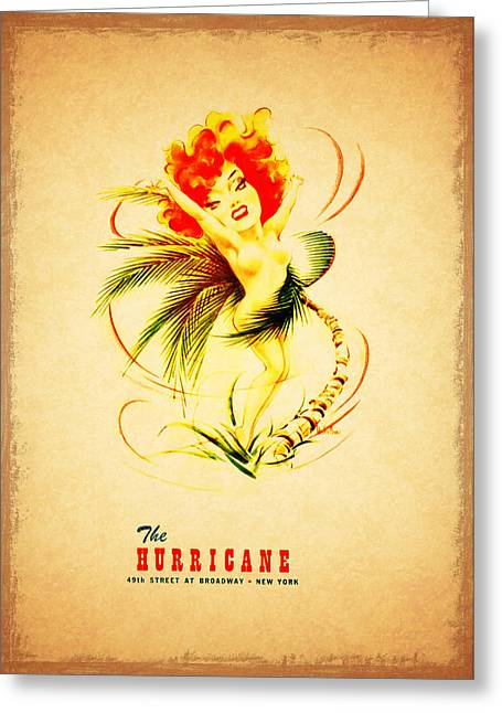The Hurricane New York 1940s Greeting Card