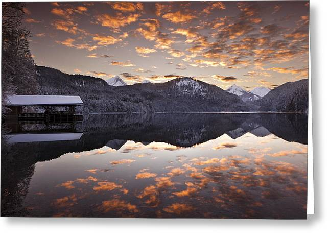 The Hut By The Lake Greeting Card by Jorge Maia