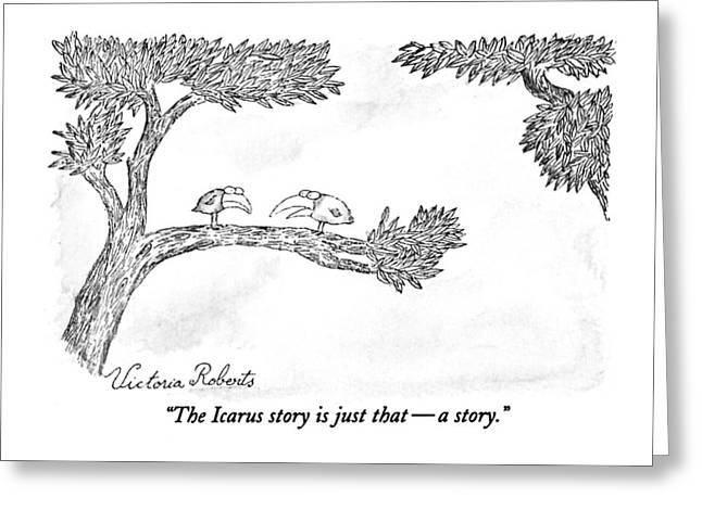 The Icarus Story Is Just That - A Story Greeting Card