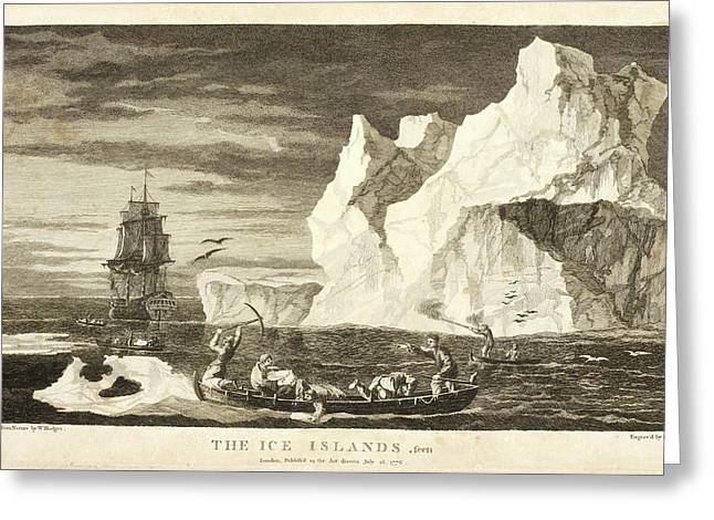 The Ice Islands Greeting Card by British Library