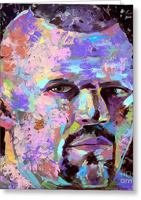 Greeting Card featuring the painting The Iceman Chuck Liddell by Robert Phelps