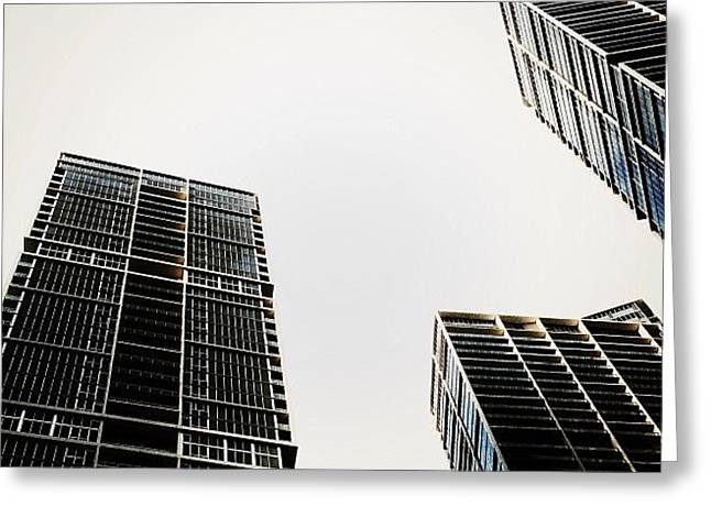 The Icon Bldg. Complex - Miami Greeting Card by Joel Lopez