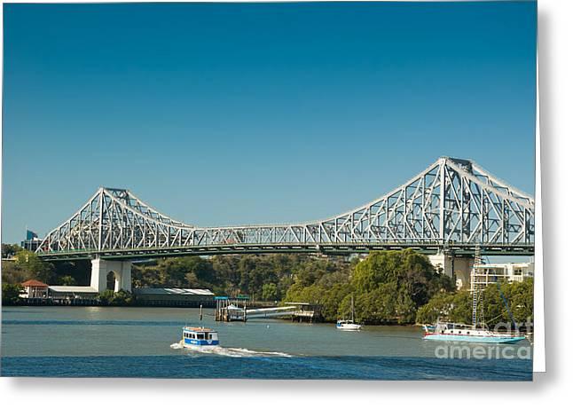 The Icon Of Brisbane - Story Bridge Greeting Card